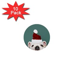 Santa Dog 1  Mini Buttons (10 Pack)