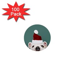 Santa Dog 1  Mini Buttons (100 Pack)