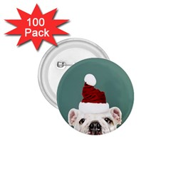 Santa Dog 1 75  Buttons (100 Pack)