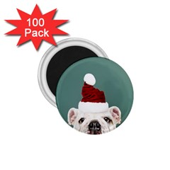 Santa Dog 1 75  Magnets (100 Pack)