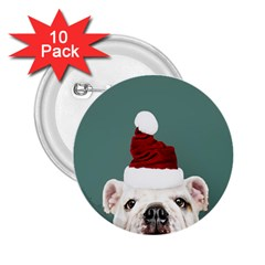 Santa Dog 2 25  Buttons (10 Pack)