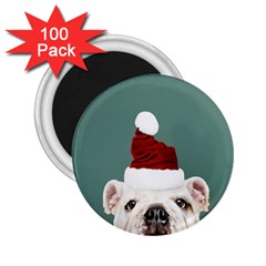 Santa Dog 2 25  Magnets (100 Pack)