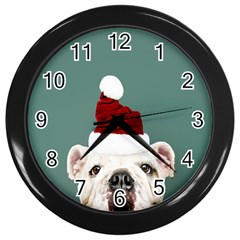 Santa Dog Wall Clock (black)