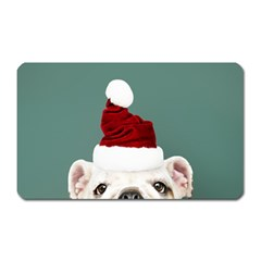 Santa Dog Magnet (rectangular)
