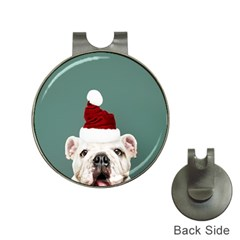 Santa Dog Hat Clips With Golf Markers