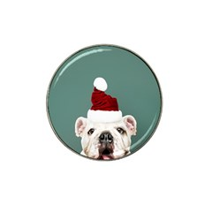 Santa Dog Hat Clip Ball Marker