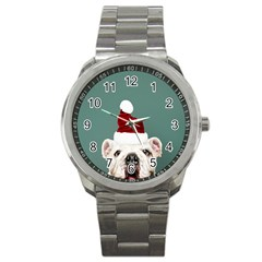 Santa Dog Sport Metal Watch