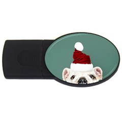 Santa Dog Usb Flash Drive Oval (4 Gb)