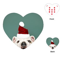 Santa Dog Playing Cards Single Design (heart)