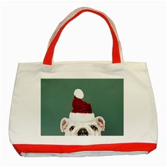Santa Dog Classic Tote Bag (red)