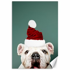 Santa Dog Canvas 12  X 18