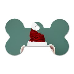 Santa Dog Dog Tag Bone (one Side)