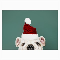 Santa Dog Large Glasses Cloth (2 Sides)