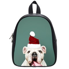 Santa Dog School Bag (small)