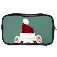 Santa Dog Toiletries Bag (two Sides)