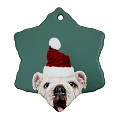 Santa Dog Ornament (snowflake)