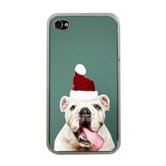 Santa Dog Iphone 4 Case (clear)