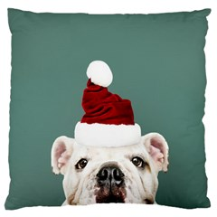 Santa Dog Large Cushion Case (two Sides)