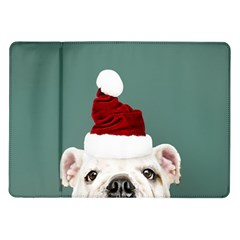 Santa Dog Samsung Galaxy Tab 10 1  P7500 Flip Case