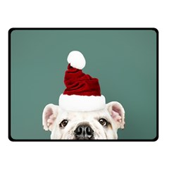 Santa Dog Double Sided Fleece Blanket (small)