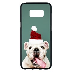 Santa Dog Samsung Galaxy S8 Plus Black Seamless Case