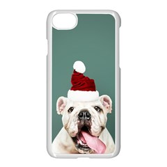 Santa Dog Iphone 8 Seamless Case (white)