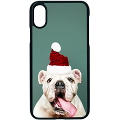 Santa Dog Iphone Xs Seamless Case (black)