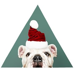 Santa Dog Wooden Puzzle Triangle