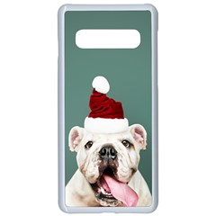 Santa Dog Samsung Galaxy S10 Seamless Case(white)