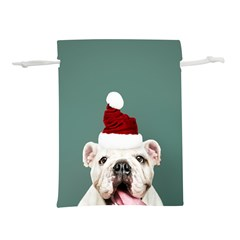 Santa Dog Lightweight Drawstring Pouch (s)