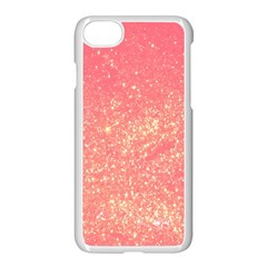 Pink Glitter Print Iphone 7 Seamless Case (white)
