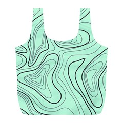 Green Lines Pattern Full Print Recycle Bag (l)