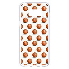 Orange Basketballs Samsung Galaxy S8 Plus White Seamless Case by mccallacoulturesports