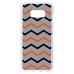 Basketball Thin Chevron Samsung Galaxy S8 Plus White Seamless Case by mccallacoulturesports