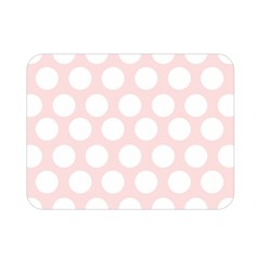 Pink And White Polka Dots Double Sided Flano Blanket (mini)  by mccallacoulture