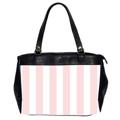 Pastel Pink Stripes Oversize Office Handbag (2 Sides) by mccallacoulture