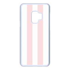 Pastel Pink Stripes Samsung Galaxy S9 Seamless Case(white)