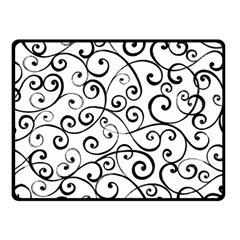Black And White Swirls Fleece Blanket (small) by mccallacoulture