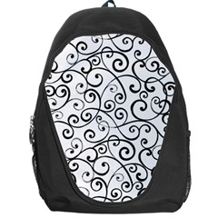 Black And White Swirls Backpack Bag by mccallacoulture
