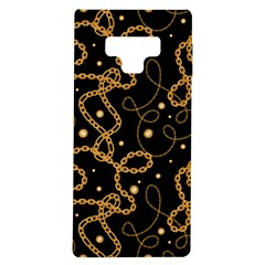 Golden Chain Print Samsung Galaxy Note 9 Tpu Uv Case by designsbymallika