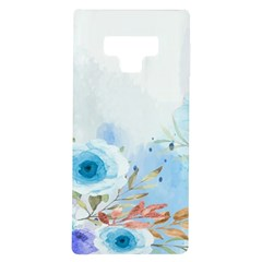 Blue Floral Print Samsung Galaxy Note 9 Tpu Uv Case