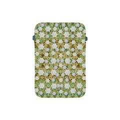 Snowflakes Slightly Snowing Down On The Flowers On Earth Apple Ipad Mini Protective Soft Cases by pepitasart