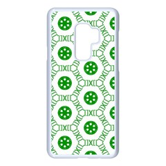 White Green Shapes Samsung Galaxy S9 Plus Seamless Case(white) by Mariart