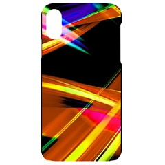 Lines Vibrations Wave Pattern Iphone Xr Black Uv Print Case