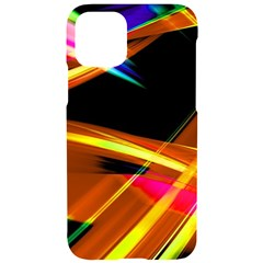 Lines Vibrations Wave Pattern Iphone 11 Pro Black Uv Print Case by AnjaniArt