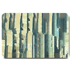 Texture Abstract Buildings Large Doormat  by Alisyart