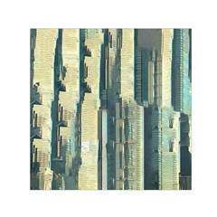 Texture Abstract Buildings Small Satin Scarf (square)