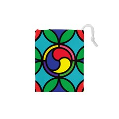 Colors Patterns Scales Geometry Drawstring Pouch (xs)