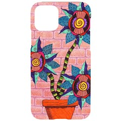 Brick Wall Flower Pot In Color Iphone 11 Pro Black Uv Print Case