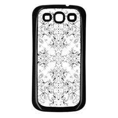 Black And White Decorative Ornate Pattern Samsung Galaxy S3 Back Case (black) by dflcprintsclothing